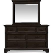 victor gray dresser & mirror