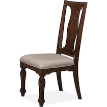 vienna merlot dark brown dining chair