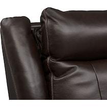 vince dark brown  pc power reclining sofa