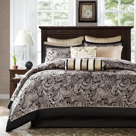 Violet Full Complete Bed Set - Black