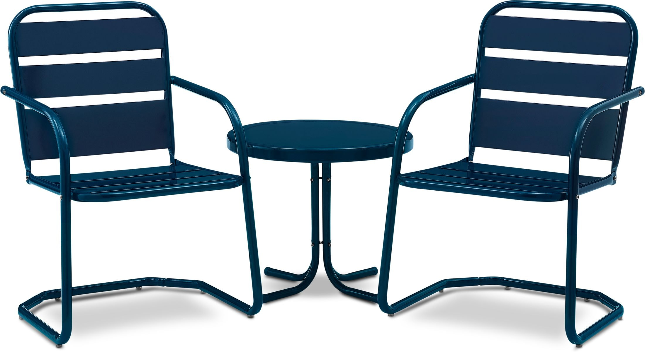 Outdoor Furniture - Wallace Set of 2 Outdoor Chairs and Side Table