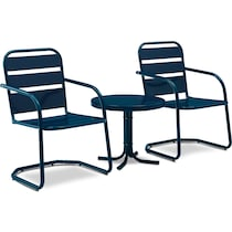 wallace blue outdoor chair set