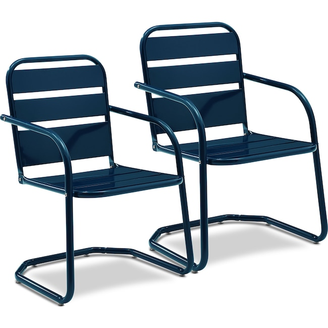 Outdoor Furniture - Wallace Set of 2 Outdoor Chairs