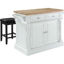 warren white kitchen island set