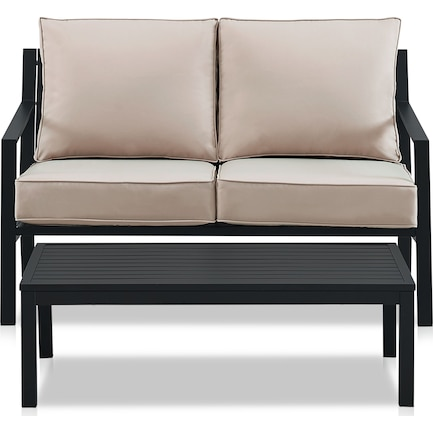 Watson Outdoor Loveseat and Coffee Table Set