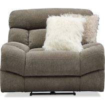wave collection gray  pc power reclining living room