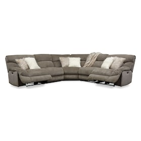 Wave 5-Piece Dual-Power Reclining Sectional with 2 Reclining Seats
