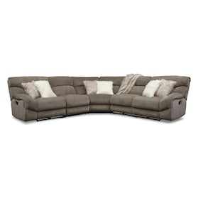 Wave 5-Piece Manual Reclining Sectional with 3 Reclining Seats