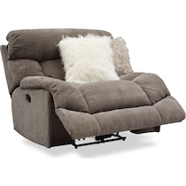 wave collection gray manual recliner