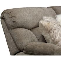 wave collection gray manual reclining sofa