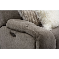 wave collection gray power reclining sofa