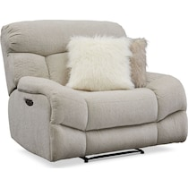 wave collection white  pc power reclining living room