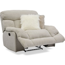 wave collection white manual recliner