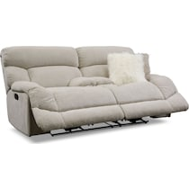 wave collection white manual reclining loveseat