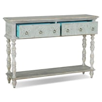 waverly blue console table