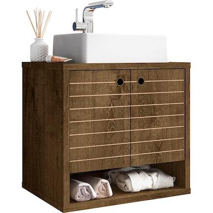 """Webb Float 24"""" Bathroom Vanity-Brown"""