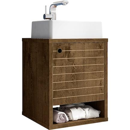 """Webb Float 18"""" Bathroom Vanity-Brown"""