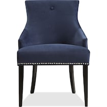 welch blue dining chair