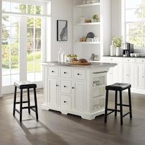 wells white kitchen island set