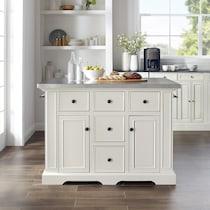 wells white kitchen island