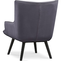 west end gray accent chair