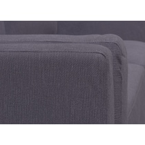west end gray sofa