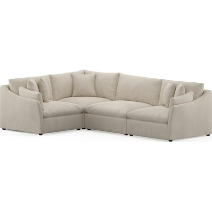 Westport Feathered Comfort Performance Fabric 4-Piece Sectional - Halifax Shell