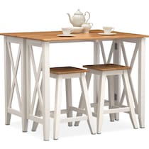 white  pc counter height dining room
