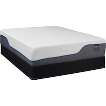 white king mattress split low profile foundation set