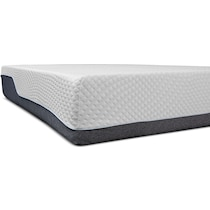white queen mattress split low profile foundation set