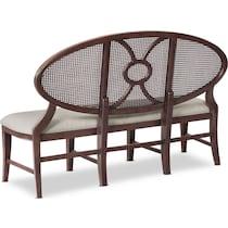 wilder dark brown dining bench