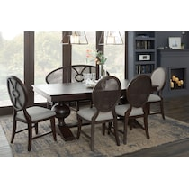 wilder dark brown dining table