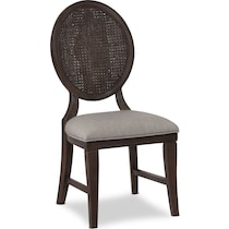 wilder dark brown side chair