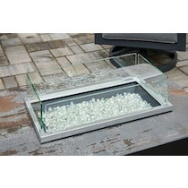 wind guard glass fire pit cover