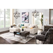 winston beige  pc sectional with left facing chaise