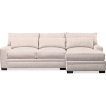 winston beige  pc sectional with right facing chaise