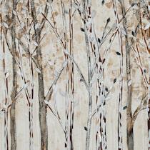 winter walk light brown wall art