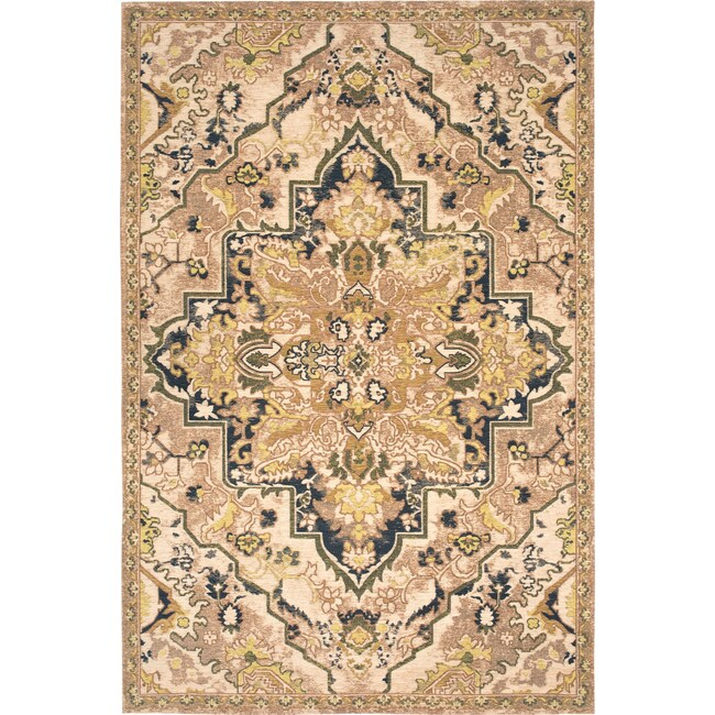 Rugs - Woven Area Rug - Citron and Navy