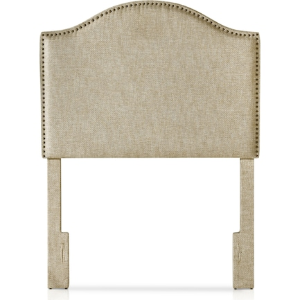 Wyatt Twin Upholstered Headboard - Linen