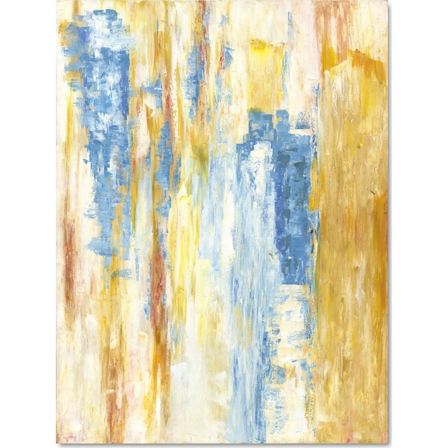 Home Accessories - Yellow Blue Wall Art