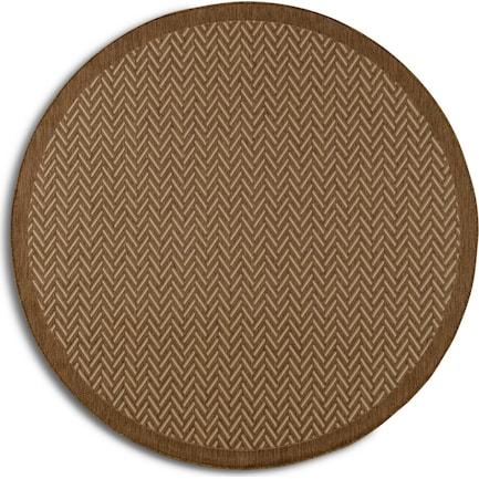 Zaggy Indoor/Outdoor 7' Round  - Brown