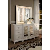 zarah white dresser & mirror