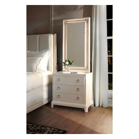 Zarah Nightstand and Mirror
