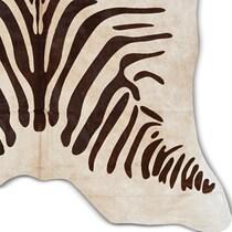 zebra brown area rug ' x '