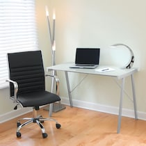 zone white desk